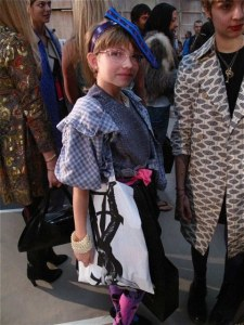 Tavi Gevinson backstage at the Alexander Wang fashion show during the New York fashion week