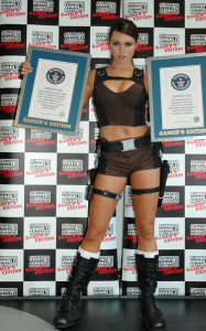 Alison Carroll was spotted with her Guinness World Records 2010 Gamers Edition ceritifcate on January 20th 2010 in London England