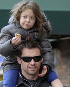 Hugh Jackman spotted with cute Ava after picking her up from school on January 26th 2010 in New York
